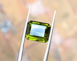 5.80 Ct Natural Olive Green Transparent Tourmaline Gemstone