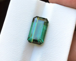 4.95 Ct Natural Blueish Green Transparent Tourmaline Gemstone