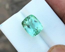 18.70 Ct Natural Green Transparent Ring Size Kunzite Gemstone