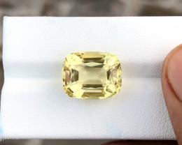 10.50 Ct Natural Yellow Transparent Citrine Top Quality  Gemstone