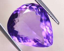12.64Ct Natural Purple Amethyst Pear Cut Lot LZ619