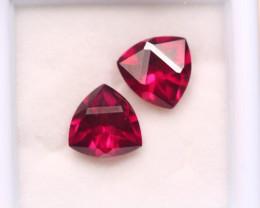4.06Ct Natural Rhodolite Garnet Fancy Trillion Cut Lot Z620
