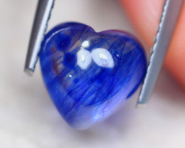 3.37ct Ceylon Blue Sapphire Heart Cut Cabochon Lot V7904