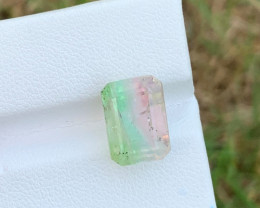 7 carats Bi-colour Tourmaline Gemstone From Afghanistan