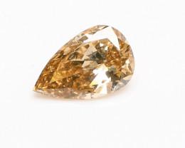 0.58ct  Natural Fancy Intense yellowish Brown Diamond HRD certified