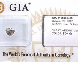 0.50 Natural Fancy Dark Grey Diamond GIA certified