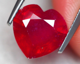 4.68ct Natural Mozambique Ruby Heart Cut Lot GW