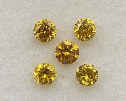 0.98 ct Diamond Gemstones /5 pc