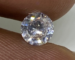 (1)  Fiery  0.50cts SI3  Natural UNTREATED White Round Loose Diamond