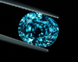 7.13CT FLAWLESS ELECTRIC CARIBBEAN BLUE ZIRCON