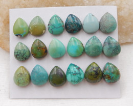 70cts Lucky Turquoise ,Handmade Gemstone ,Turquoise Cabochons ,Lucky Stone