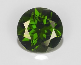1.30 CTS NATURAL ULTRA RARE ROUND CHROME GREEN DIOPSIDE RUSSIA~