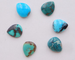 15cts Lucky Turquoise ,Handmade Gemstone ,Turquoise Cabochons ,Lucky Stone