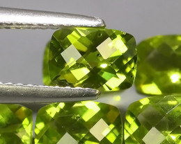 5.40 CTS~GENUINE NATURAL GREEN PERIDOT CUSHION PARCEL 6 PCS~ECELLENT!!