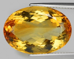 19.43 Cts Fancy Golden Yellow Color Natural Citrine Gemstone