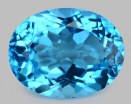 26.05 Carat Super Swiss Blue Natural Topaz Gemstone