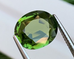3.97 Cts Flawless Top Quality Olive Green Natural Tourmaline