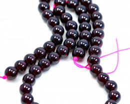 NR!!! 251.30 CTs Natural - Unheated Red Garnet Beads String