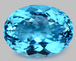 No Reserve Topaz 23.34 Carat Super Swiss Blue Natural
