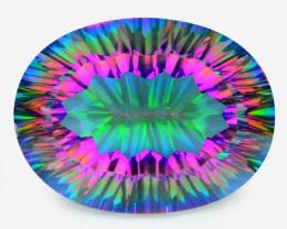 17.78 Cts Rare Fancy Rainbow Colors Natural Mystic Quartz