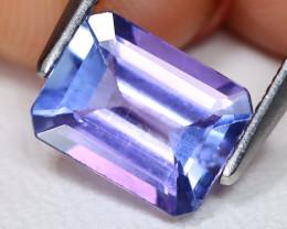 Tanzanite 1.64Ct VS Octagon Cut Natural Vivid Purplish Blue Tanzanite A0803