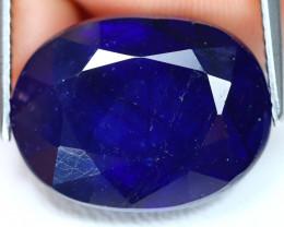 Blue Sapphire 18.19Ct Oval Cut Royal Blue Color Sapphire A0807