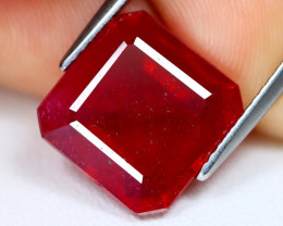 Red Ruby 8.32Ct Octogon Cut Pigeon Blood Red Ruby B0810