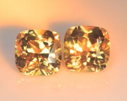 Dazzling 4.69 Cts  Diaspore Color Change Cushion Radiant BGC666 Pair