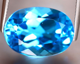 Swiss Topaz 6.73Ct Natural VVS Swiss Blue Topaz DF1113/A48
