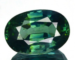 ~UNHEATED~ 1.08 Cts Natural Beautiful Green Sapphire Cushion Madagascar
