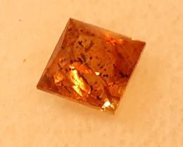 certified 1.38ct deep orange yellow -leopard Umba valley Tanzania sapphires