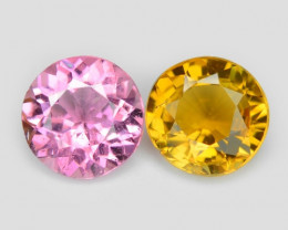 1.23 Cts 2 Pcs Un Heated Pink Color Natural Tourmaline Loose Gemstones
