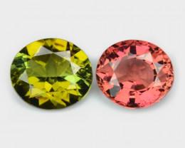 1.60 Cts 2 Pcs Un Heated Pink Color Natural Tourmaline Loose Gemstone