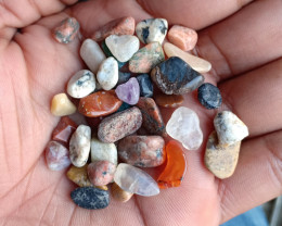 100 Carats Mixed Gemstones Tumbled Chips 100% Natural & Untreated VA4902