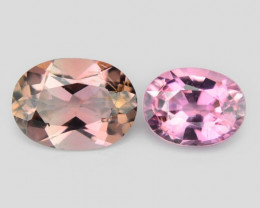 1.40 Cts 2 Pcs Un Heated Pink Color Natural Tourmaline Loose Gemstone