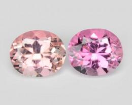 1.05 Cts 2 PCS Un Heated Pink Color Natural Tourmaline Loose Gemstone