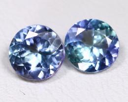 Tanzanite 1.63Ct VS2 Round Cut Natural Purplish Blue Tanzanite A1003