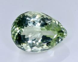 24.55 Crt Natural Green Prasiolite Amethyst Faceted Gemstone.( AB 23)