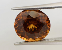 Natural Unheated Vivid Orangy Brown Zircon 6.82 cts (SKU Z526)