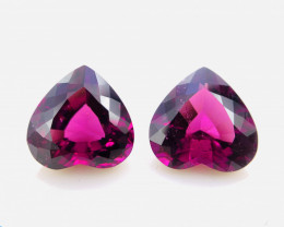 Natural Purplish Garnet Pair, No Heat, 7.39 cts (SKU Z376)