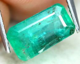 Zambian Emerald 2.31Ct Octogon Cut Natural Green Color Emerald B1104
