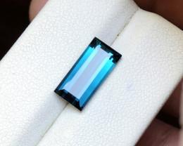 3.85 Ct Natural Dark Blue Indicolite Transparent Tourmaline TOP Gemstone