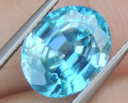 6.45cts Blue Zircon from Cambodia, Calibrated