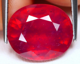 Red Ruby 10.50Ct Oval Cut Pigeon Blood Red Ruby A1103