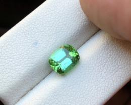 2 Ct Natural Greenish Blue Transparent Tourmaline Ring Size Gemstone