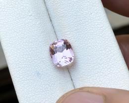 1.70 Ct Natural Pinkish Transparent Tourmaline Ring Size Gemstone