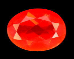 0.55 Cts Very Rare Unheated Mexican Fire Opal Loose Gemstone
