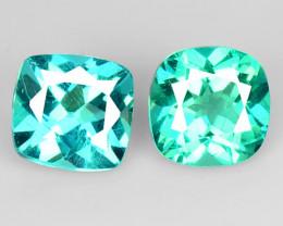 1.56 Cts 2 Pcs Un Heated Natural Green Apatite Loose Gemstone