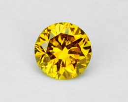 ~DAZZLING~ 0.06 Cts Natural Diamond Golden Yellow 2.60mm Round Africa