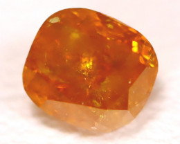 Orange Diamond 0.30Ct Untreated Genuine Fancy Diamond B1212